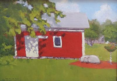 Maine Barns Painting - Fresh Paint by Bill Tomsa