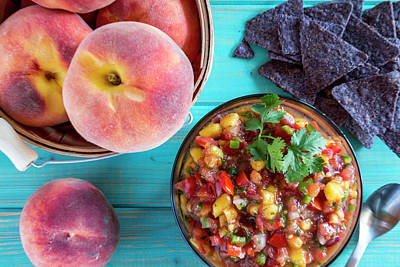 Fresh Peach Salsa Art Print