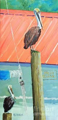 Painting - Fresh Pelican by Keith Wilkie