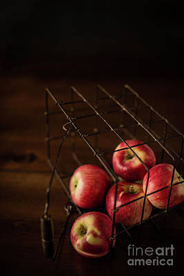 In Baskets Photograph - Fresh Picked Apples by Taylor Martinsen