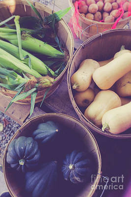 Photograph - Fresh Picked Vegetables For Sale At A Farm Stand by Edward Fielding