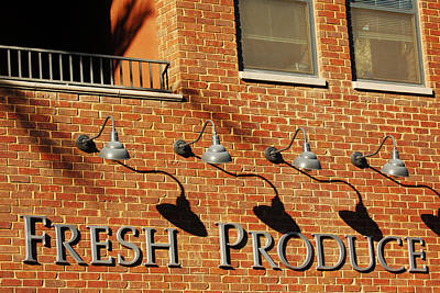 Photograph - Fresh Produce Signage by Jill Reger