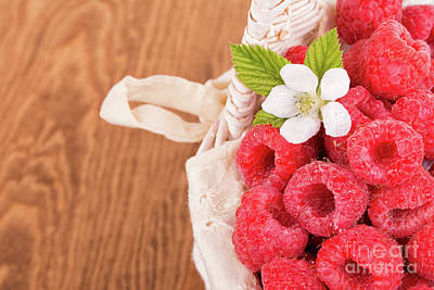 Photograph - Fresh Raspberries by Sari ONeal