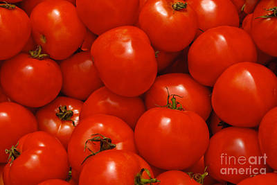 Fresh Red Tomatoes Art Print by Thomas Marchessault