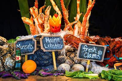 Photograph - Fresh Seafood Feast by Lynn Bauer