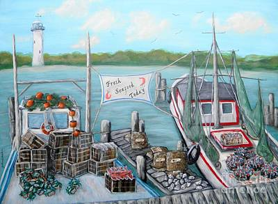 Fresh Seafood  Original by JoAnn Wheeler