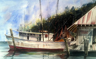 Painting - Fresh Shrimp Alabama by Don F  Bradford
