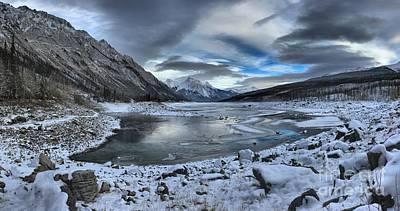 Fresh Snow At Medicine Lake Art Print by Adam Jewell