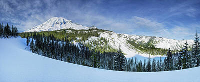 Photograph - Fresh Snow At Mount Rainier by Dan Mihai