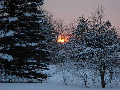Photograph - Fresh Snow At Sunrise by Kent Lorentzen