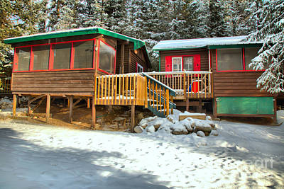 Photograph - Fresh Snow At The Beauty Creek Hostel by Adam Jewell