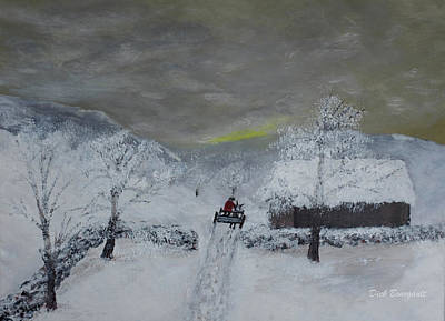 Painting - Fresh Snow by Dick Bourgault