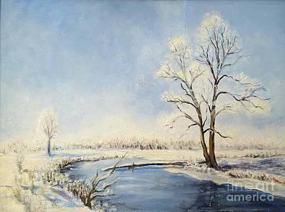 Fresh Snow Art Print by Dorothy Weichenthal