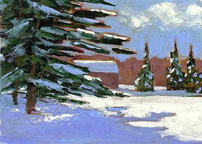 Painting - Fresh Snow by Mary Byrom