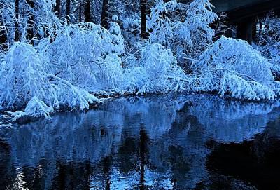 Photograph - Fresh Snow Winter Stream by Sean Sarsfield