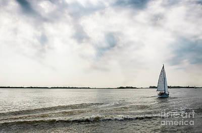 Cruising The Coast Wall Art - Photograph - Fresh Spring Wind.yacht On The River by Marina Usmanskaya