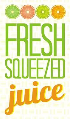 Grapefruit Digital Art - Fresh Squeezed  Juice by Priscilla Wolfe