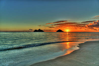 Photograph - Fresh Start Lanikai Beach Oahu Sunrise Hawaii Collection Art by Reid Callaway