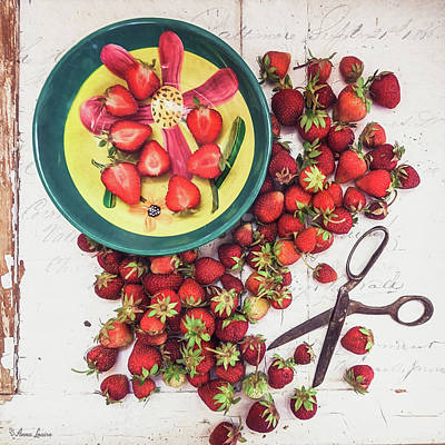 Photograph - Fresh Strawberries by Anna Louise