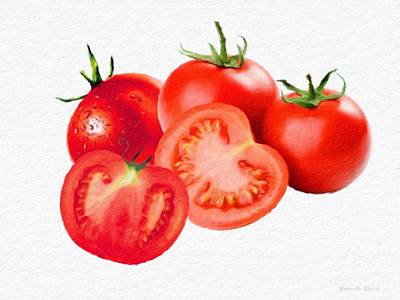 Painting - Fresh Tomatoes by Gabriella Weninger - David