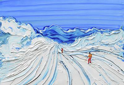 Painting - Fresh Tracks by Pete Caswell