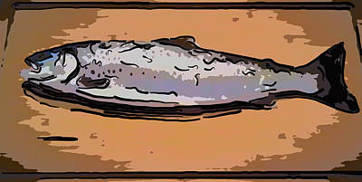 Painting - Fresh Trout by Jeelan Clark