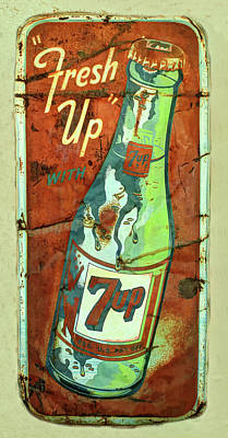 Seven-up Sign Photograph - Fresh Up Seven Up by Douglas Settle