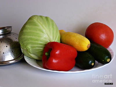 Photograph - Fresh Vegetables 2 by Methune Hively