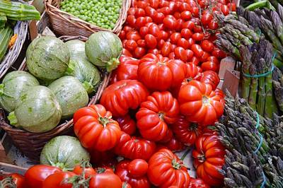Photograph - Fresh Vegetables by Chris Alberding