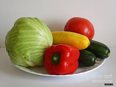 Photograph - Fresh Vegetables by Methune Hively