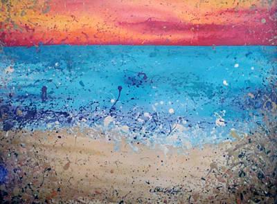 Spatter Mixed Media - Fresh Water by Paula Weber