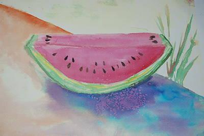 Fresh Watermelon Art Print by Aldonia Bailey