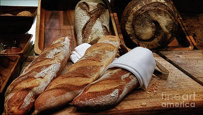 Freshly Baked Bread By Kaye Menner Art Print by Kaye Menner