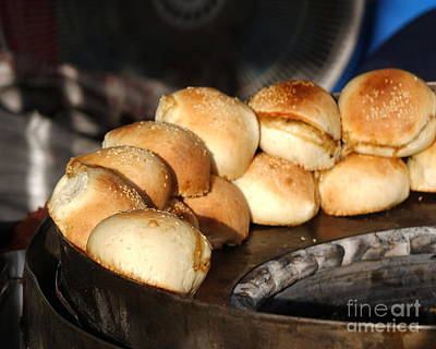 Photograph - Freshly Baked Buns With Stuffing by Yali Shi
