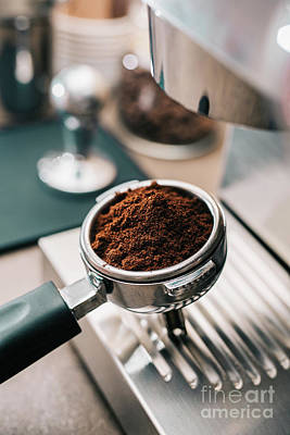 Coffee Shop Photograph - Freshly Ground Coffee by Viktor Pravdica