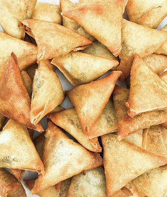 Diwali Photograph - Freshly Made Samosas by Tom Gowanlock
