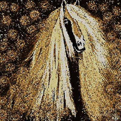 Painting - Friesian Horse Mosaic  by Saundra Myles