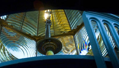 Photograph - Fresnel Lens Heceta Head Lighthouse by Yulia Kazansky