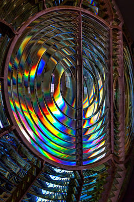 Photograph - Fresnel Lens Point Arena Lighthouse by Kathleen Bishop