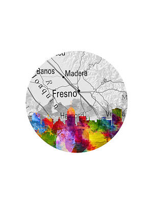 Fresno Painting - Fresno California 13rd by Aged Pixel