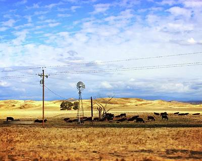 Photograph - Fresno County Pastoral by Timothy Bulone