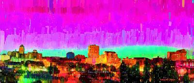 For Sale Digital Art - Fresno Skyline 103 - Da by Leonardo Digenio