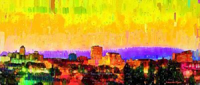 Intense Digital Art - Fresno Skyline 106 - Da by Leonardo Digenio