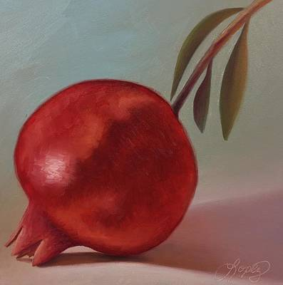 Painting - Fresno State Pomegranate by Gema Lopez