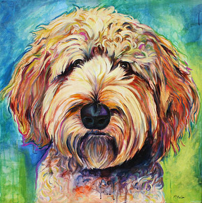 Vintage Pharmacy Royalty Free Images - Fresno the Goldendoodle Royalty-Free Image by Christy Mullen