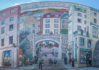 Photograph - Fresque Des Quebecois by Chris Bordeleau