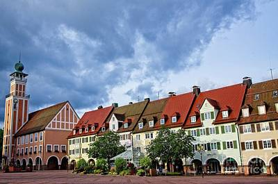 Photograph - Freudenstadt Town Square Germany by Elzbieta Fazel