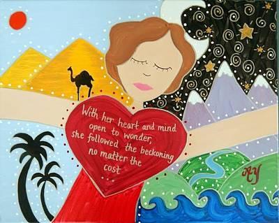 Painting - Freya Stark by Angela Yarber