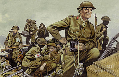 Painting - Freyberg Led The New Zealand Expeditionary Force Throughout World War II by Ron Embleton