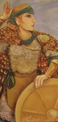 Norse Goddess Painting - Freyja by Samantha Sanders